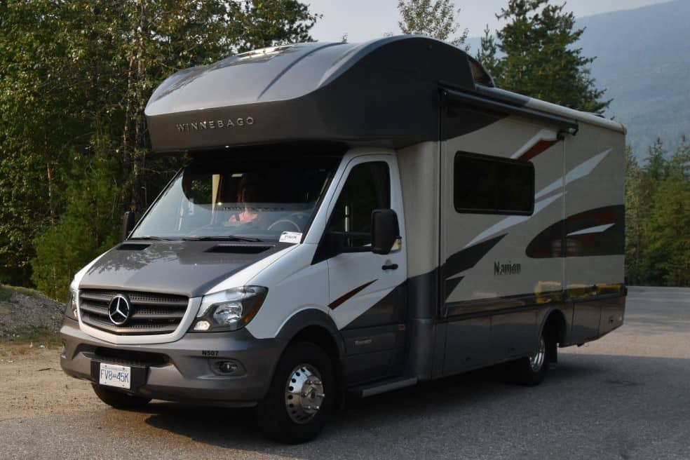 Ophalen camper bij Traveland in Langley, BC