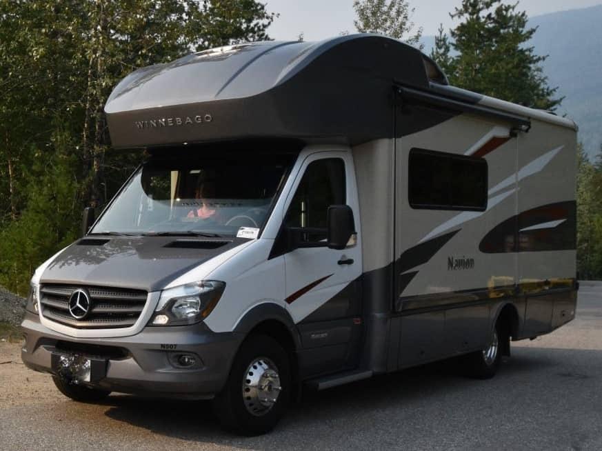 Ophalen camper bij Traveland Langley, BC