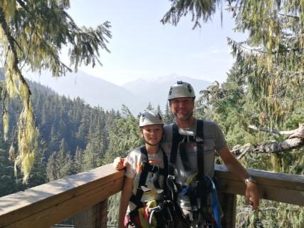 Wandelen op Whistler Mountain en zippen met Ziptrek Ecotours