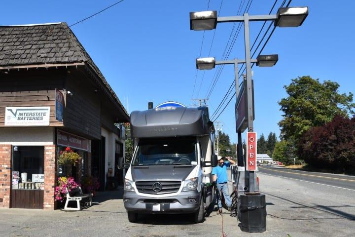 Tankstation op Vancouver Island