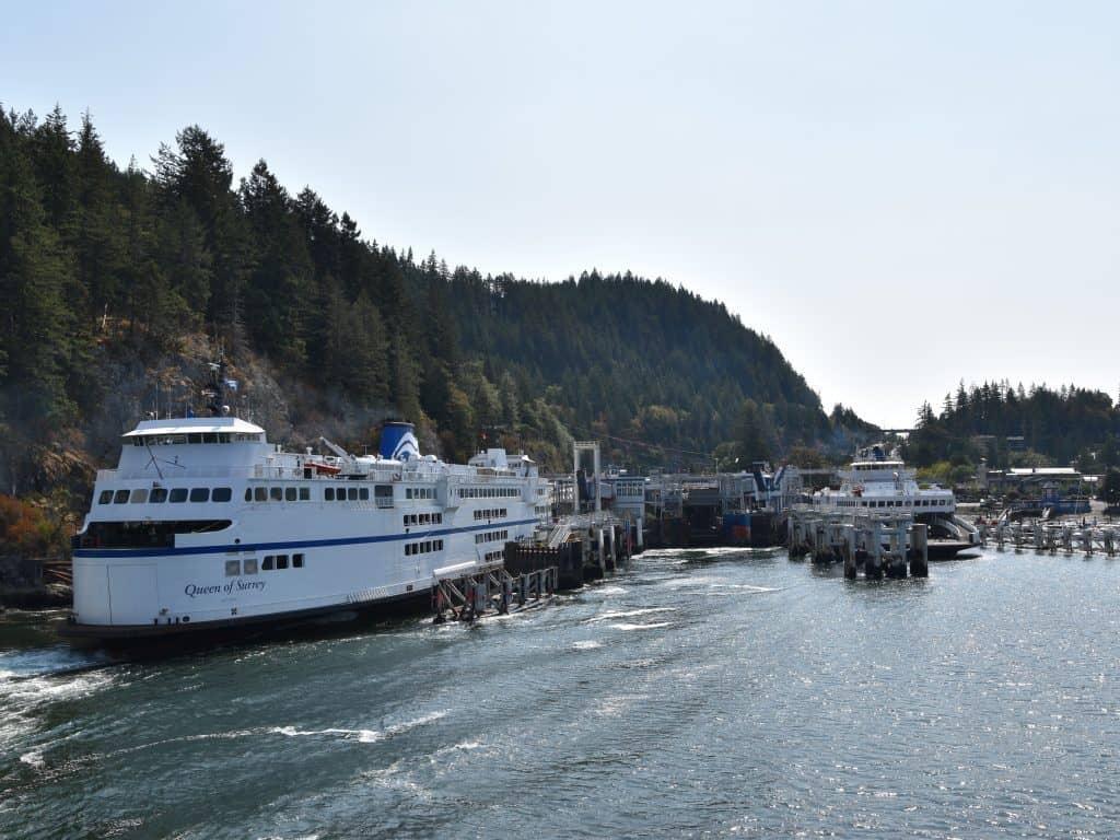 Met de ferry van Vancouver Island naar Cultus Lake
