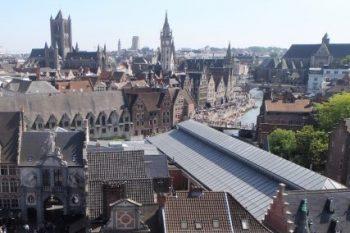 Wat te doen in Gent - Uitzicht vanaf het dak op het Gravensteen