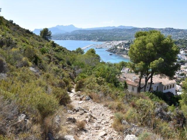 Wandeling naar Torre Vigia del Cap d'Or in Moraira
