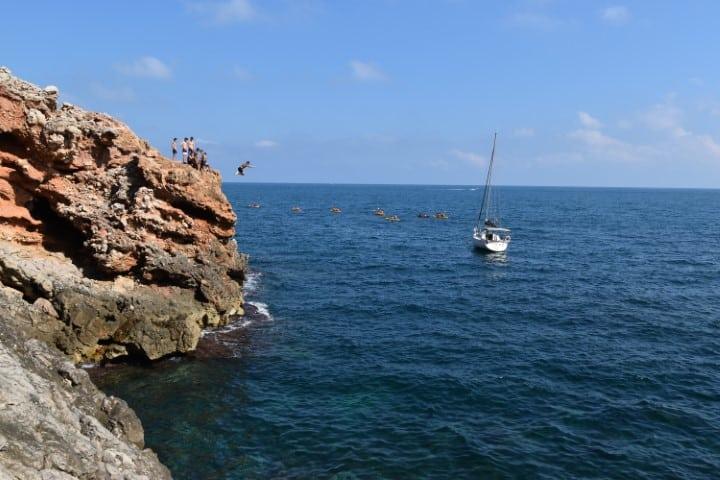 Rock jumping Cova Tallada Javea