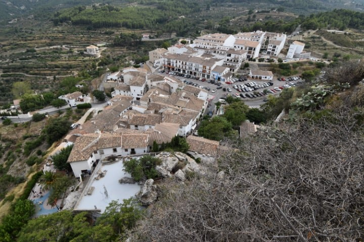 Guadalest from the air