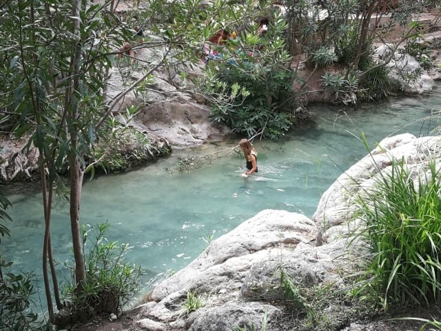 De Algar watervallen (Les Fonts de L'Algar)
